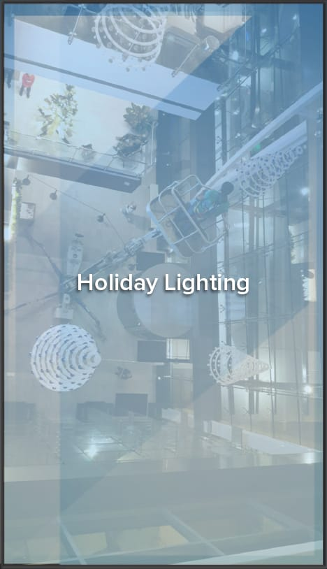 holiday lighting window