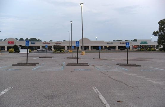 picture of the before parking lot