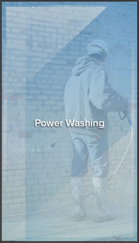 power washing window